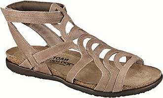 fe60be77fe9679 Naot Footwear Womens Sara Khaki Beige Lthr Sandal 35 M EU
