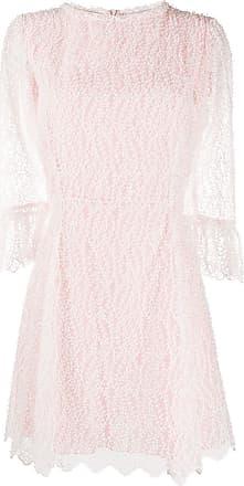 Blumarine Vestido com recorte bordado - Branco