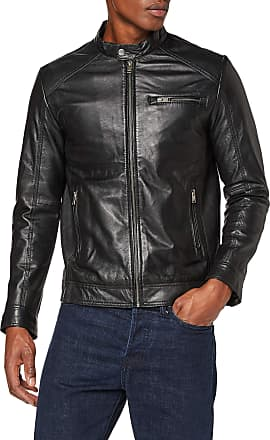 Selected Mens Slh C-01 Classic Leather Jacket W Noos, Black, XX-Large