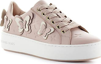 163930df73 Michael Kors WOMENS 43S9FEFS2L187 PINK LEATHER SNEAKERS