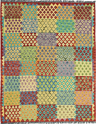 Nain Trading 197x156 Tapis Authentique Kilim Afghan Beige/Orange (Laine, Afghanistan, Tissé à la main)