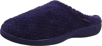 Isotoner Womens Ladies Popcorn Terry Mule Slippers Open Back, Blue (Navy Nav), 8 (41 EU)