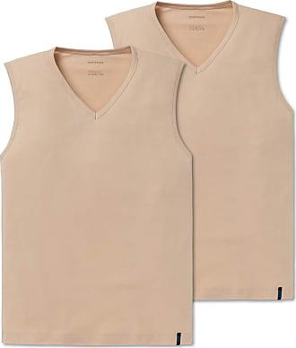 Schiesser Mens 95/5 Tank Top Undershirt, Beige (Skin 407), M (Pack of 2)