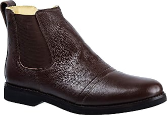 Doctor Shoes Antistaffa Botina Masculina Gel Anatômica em Couro Floater Café 8611 Doctor Shoes-Café-42