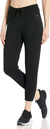 Jockey Womens Cropped Jogger Casual Pants, Deep Black, Large