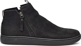UGG Mens Pismo Zip Trainer in Black Tnl, Size 10, Leather