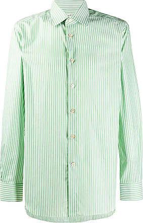Kiton striped cotton shirt - Green