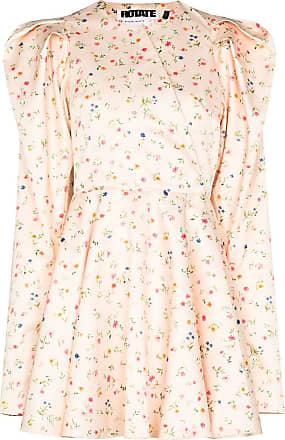Rotate Vestido Pauline com estampa floral - Neutro