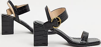 Z_Code_Z Exclusive Oni vegan block heeled sandals in black croc
