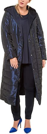 Ulla Popken Womens Wende-Steppmantel, Kapuze, Selection Coat, Blue (Dark Blue 70), UK 32