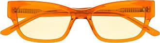 Han Kjobenhavn Armação de óculos retangular com logo - Laranja