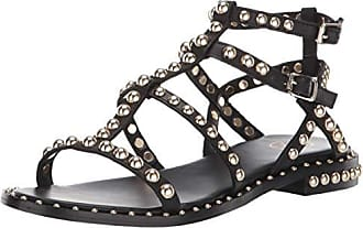 5d3225213 Ash Womens AS-Precious Flat Sandal, Black, 35 M EU (5 US