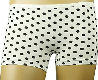 MySocks Ladies Boxer Briefs Black and White Polkadots