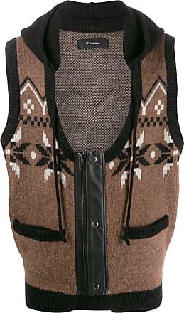 GR-Uniforma Colete de tricô com capuz - Marrom