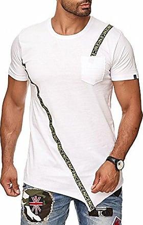 541c243b013c45 Red Bridge Norths Republic Herren T-Shirt Asymmetric Oversized Longshirt  ENIC mit Brusttasche Weiß XL