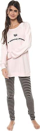 Cor com Amor Pijama Cor com Amor Estampado Rosa/Cinza