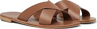 ÁLVARO GONZÁLEZ Antonio Leather Sandals - Light brown