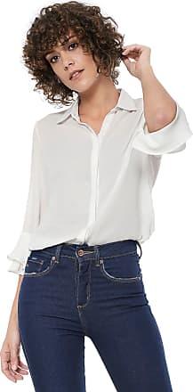 Ana Hickmann Camisa Ana Hickmann Crepe Off-white