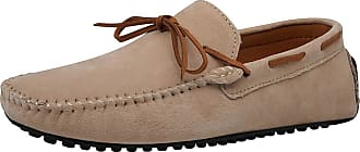 Jamron Mens Suede Leather Handmade Moccasins Comfortable Carpet Slippers Non-Slip Boat Shoes Casual Loafer Flats Khaki SN19077 UK12