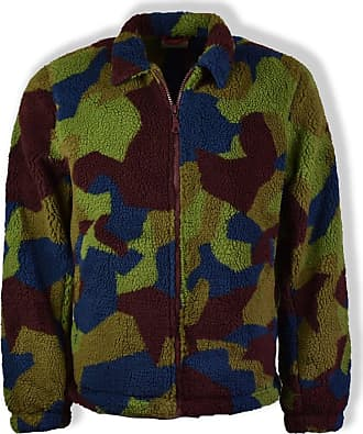 Nudie Jeans Camo Torkel Fleece - EXTRA LARGE - Green/Brown/Blue