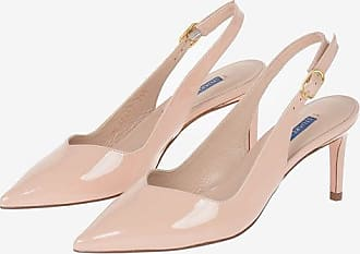 Stuart Weitzman Lacquered Leather EDITH 70 Slingbacks 7 cm size 35,5