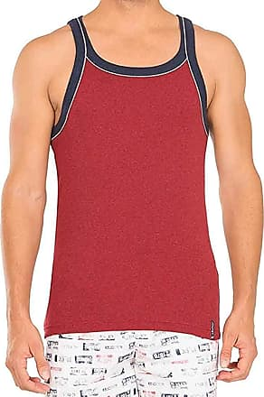 Jockey Men USA Original Sports Square Neck Vest US 54 Comfortable (XL, Wordley Red)