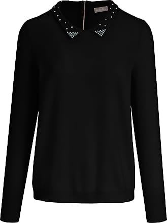 include Polo collar jumper in 100% cashmere include black
