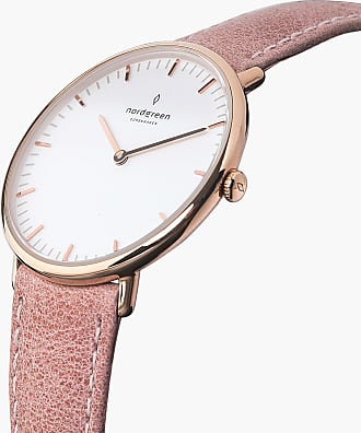 Nordgreen Native - Rose Gold | Pink Leather - 36mm / Rose Gold