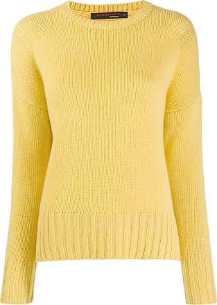 Incentive! Cashmere ribbed trim jumper - Amarelo