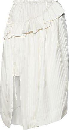 Stella McCartney Stella Mccartney Woman Layered Striped Silk-satin Skirt Ecru Size 44