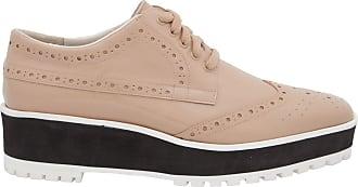 Vinci Shoes Oxford Flatform Verniz - Bege
