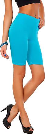 FUTURO FASHION SOFTSAIL 1/2 Length Cotton Leggings Over-Knee Comfy Breathable Sport Gym Cycling Elastic Pants LK Turquoise 20/22