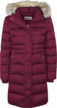 Calvin Klein Jeans Down Long Nylon Puffer W Down Coat Beet red