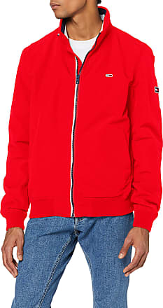 Tommy Jeans Mens TJM Essential Bomber Jacket Sports, Red (Red Xa9), X-Large (Size:XL)