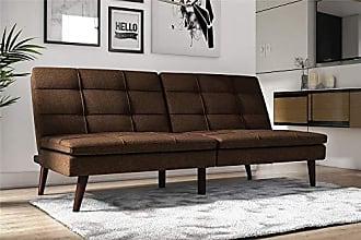 Dorel Home Products DHP Premium Westbury Linen Pillowtop Futon, Brown