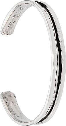 Emanuele Bicocchi Bracelete texturizado - Prateado
