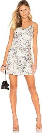 J.O.A. Cowl Neck Mini Dress in Beige