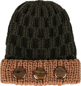 0711 crystal bead knit beanie - Green
