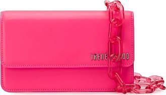 Ireneisgood Bolsa tiracolo com placa de logo - Rosa