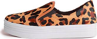 Balaia Slip On Sneaker Balaia em Couro Animal Print MOD144