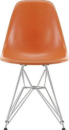 Vitra DSR Fiberglass Side Chair Chrome Base