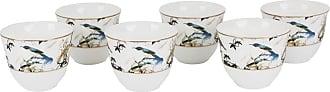 Roberto Cavalli Gardens Birds Arabic Cups - Luxury Box Set of 6
