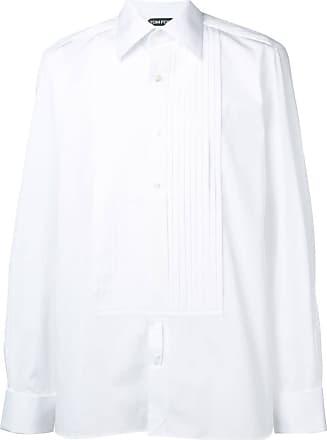 Tom Ford Camisa slim mangas longas - Branco
