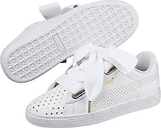 6e4f24129c28 Puma Basket Heart Ath Lux Damen Sneaker Puma White-Puma White 3