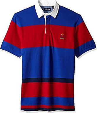 935d66d896 Chaps Mens Classic Fit Fashion Cotton Mesh Polo Shirt, Active Blue Multi XXL