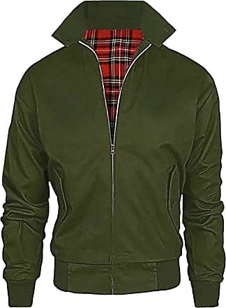 Generic Harrington Classic Vintage Jacket Unisex Adults Vintage Bomber Titan Coat S-5XL (Green, 3XL)