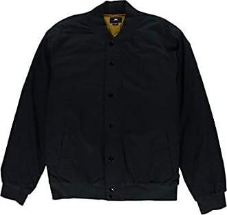 Obey Mens Ranks Regular Fit Bomber Jacket, Black, M