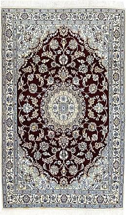 Nain Trading 190x117 Tappeto Orientale Nain 9La Beige/Marrone Scuro (Lana / Seta, Persia/Iran, Annodato a mano)