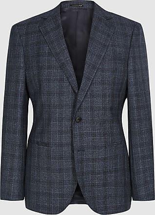 Reiss Bagley - Modern Fit Checked Blazer in Indigo, Mens, Size 36