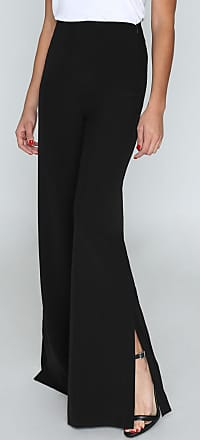 Alloy Apparel Tall Bridget Side Slit Plus Size Pants for Women Black 15/35